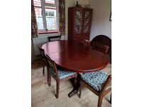 Solid Hardwood Extending Dining table with 6 Chairs -custom made