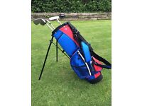 Childs Left Hand Golf Club set & bag
