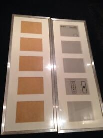 2silver picture frames