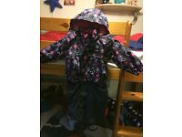 refelx child fully lined waterproof winter all in one snow suit.