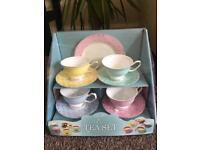 China blue tea set