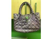 100% genuine Christian Dior cannage nylon handbag