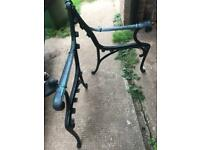 Pair Of Cast Iron Garden Bench/Seat Ends