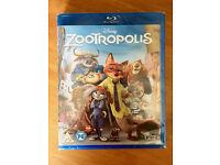 Disney Zootropolis Blu Ray (New & Sealed)