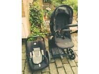 Britax child car seat carrier and pram