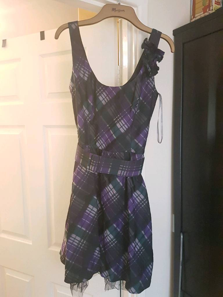 Purple dress red herring size 10in Newcastle, Tyne and WearGumtree - Lovely purple checked dressRed herringSize 10Barely wornGreat condition