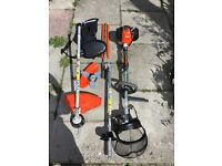 Echo petrol long reach hedge trimmer & strimmer with harness