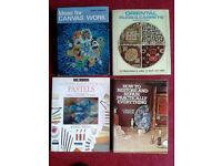 4 Craft Books Crafting Canvas Work Pastels Woodworking Repairs Oriental Carpets Crafts Hobbies