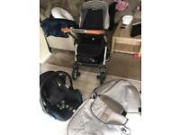 Silver cross wayfarer pushchair & maxi cosi seat