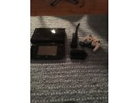 Wii u console With mario kart ans super smash BROS 4 plus controllers