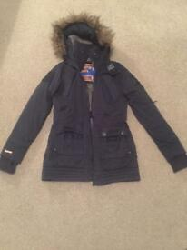 Navy blue Superdry coat ladies small