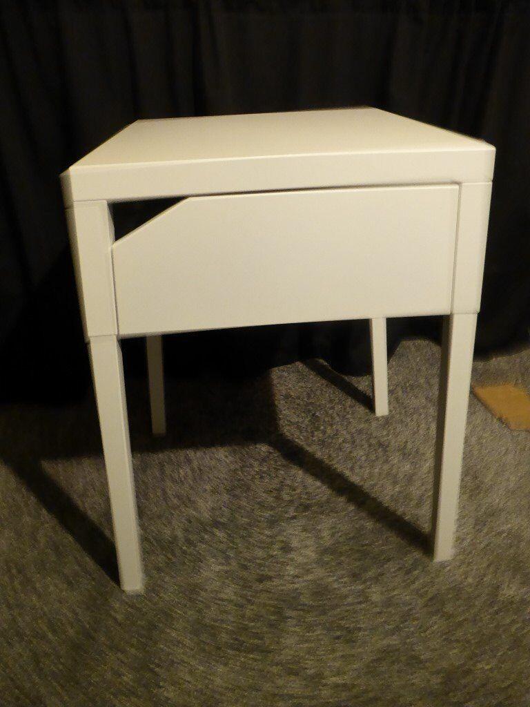 White Ikea Bedside Table – SELJE