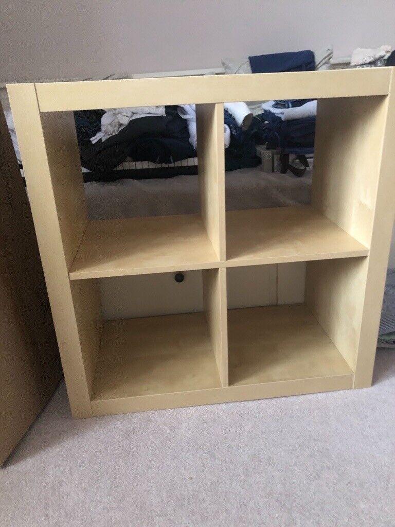 the best attitude 41672 975c0 Ikea Kallax four cube oak shelving unit | in Kelvinbridge, Glasgow | Gumtree