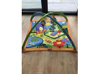 Baby activity playmat, with sounds and soft dangle