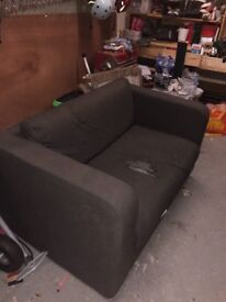 Black habitat 2 seat sofa