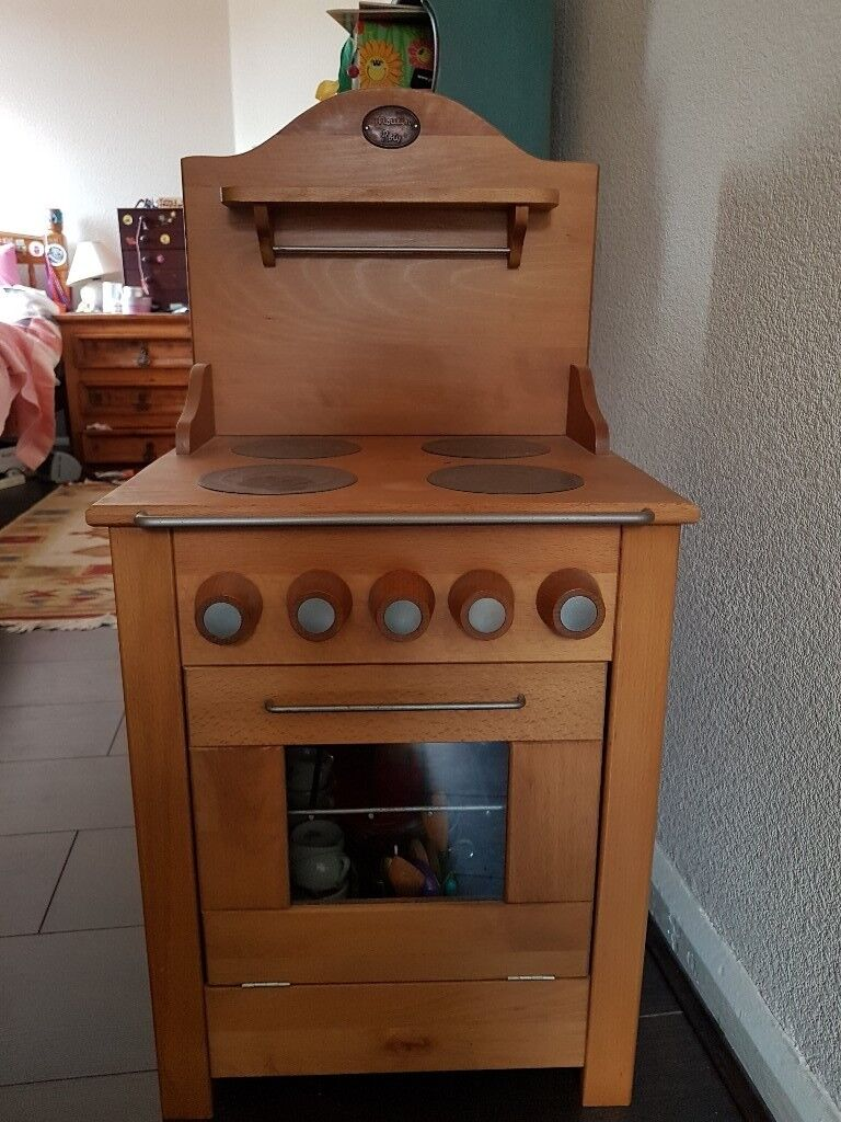 Childs Wooden play cooker