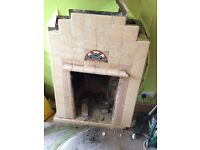 Old Fashioned Fireplace and Hearth1930's