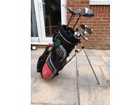 Golf clubs and bag set