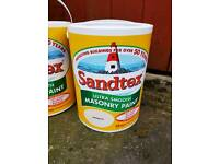 5 litre Sandtex Magnolia ultra smooth masonry paint.