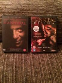 Hannibal and Hannibal Rising DVDs