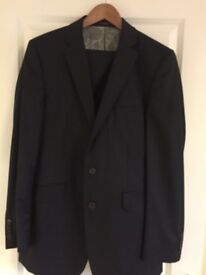 A39 by Savile Row navy pinstripe suit