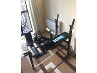 Exercise Bench and 85kg Dumbell Set