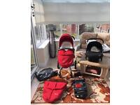 Silver Cross surf Pushchair With car seat and Isofix Base