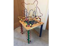 Rollercoaster Bead play table