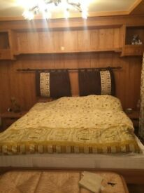 Wooden bed made in Switzerland