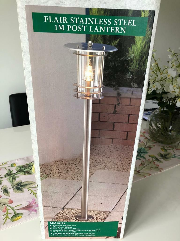 Stainless Steel 1m high Garden Lantern