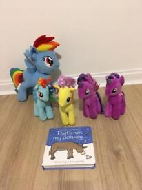 My Little Pony soft toys & book