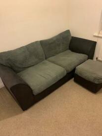 Sofa & Pouffe Set