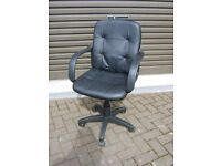 Office / computer chair , leather type , excellent condition , hardly used