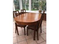 Vintage Teak 'Nathan' dining table and chairs