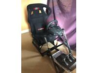 Next Level Racing Simulator (Gaming Chair) - Logitech Gaming Steering Wheel, Gearstick & Pedals