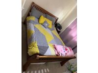 Bedroom set king size dark wood bed Simba hybrid Mattress Tall boy and 2x side table