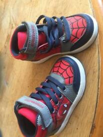 Spider-Man trainers size 7