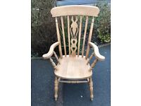 Large solid wood armchair