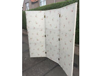 3 Part Room Divide /Screen . Covered in Floral material . Free Local delivery Size L 78 Height 71in.