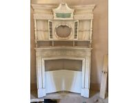 Ornate Wooden Fireplace