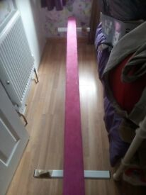 Nearly new pink balance beam for gymnastics, 8ft long