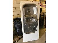 Stainless Steel Sink, 1 and a half bowl - kitchen or office use