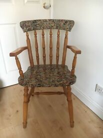 Wooden chair upcycled marvel comic book