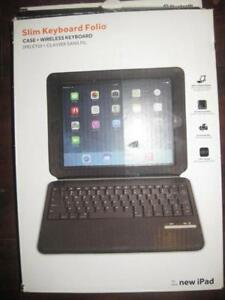 """Griffin Slim Keyboard Folio Case / Cover Can Fit Ipad 9.7"""" 2017 / 2018 Model. Bluetooth. Wireless. Stand. Protect Tablet"""