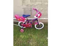 "Girls 12"" Mia bike with parent handle"