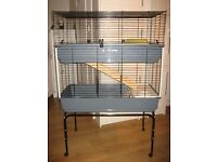 Guinea-Pig cage-double layer on trolley by Ferplast