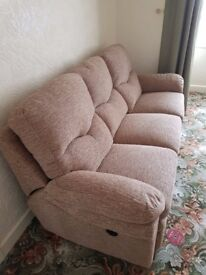 3 seater electric recliner sofa and and armchair