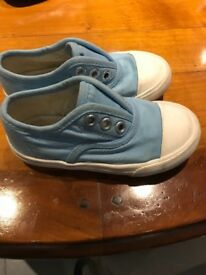 Marks and Spencer girls pale blue trainers size 7