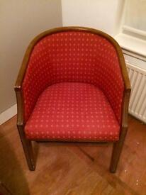 Tub chair up cycle shabby chic