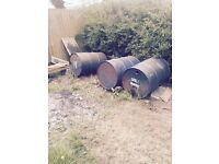 Reclaimed Oil Drums ideal Barbeque Incinerator Fire Pit